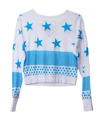 STARS STRIPES TWEEN LONG SLEEVE DANCE WEAR T-SHIRTS