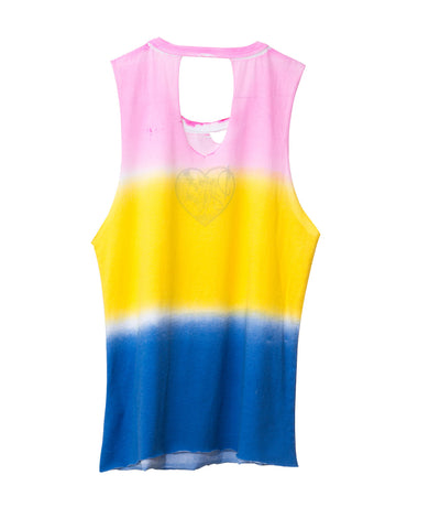 KEY HOLE STRIPE TWEEN TANK