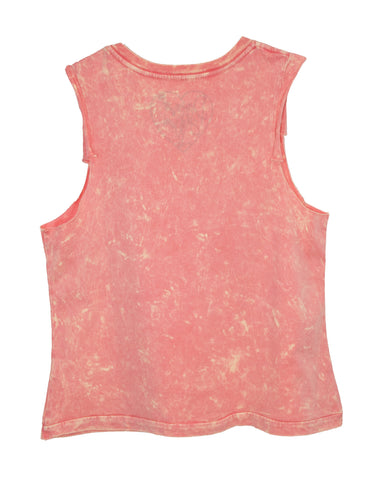 FLOWER CREW NECK TWEENS TANK