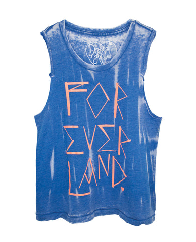 FOREVER LAND BURNOUT TWEENS TANK