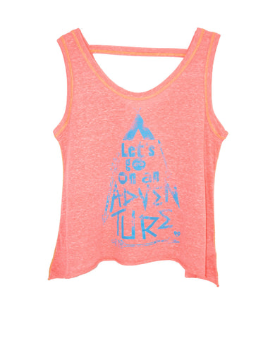 LET'S GO ON AN ADVENTURE TWEENS TANK