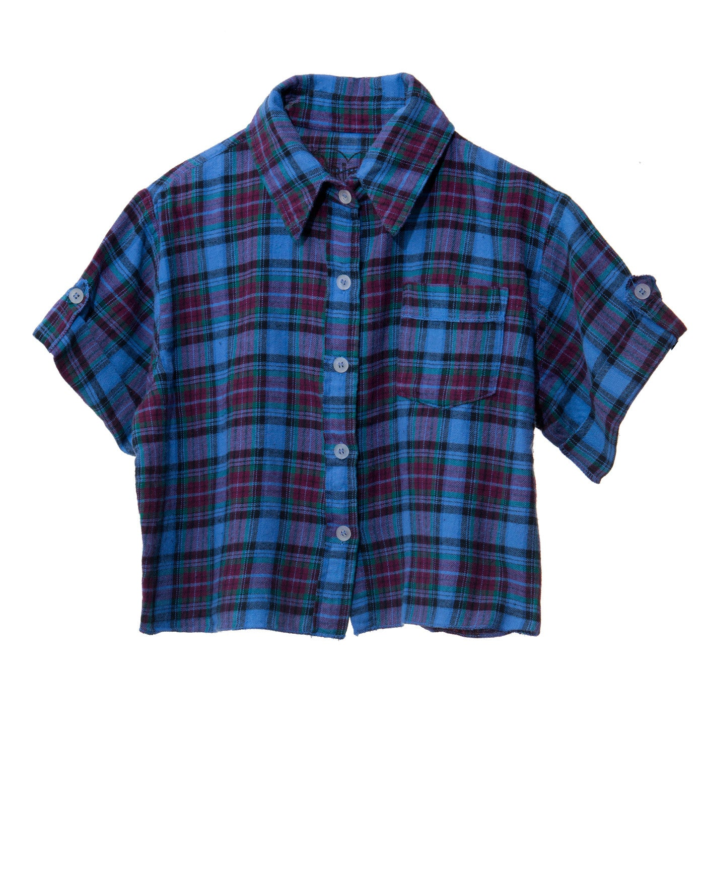 FLANNEL STAR HEART TWEEN SHIRT