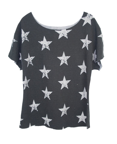 BURN OUT STARS TWEENS T-SHIRT