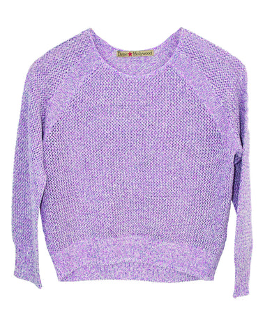 CREW NECK PULLOVER TWEEN LONG SLEEVE SWEATER
