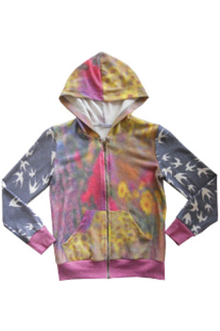 SPARROW DAISY TWEEN LONG SLEEVE ZIPPER HOODIE
