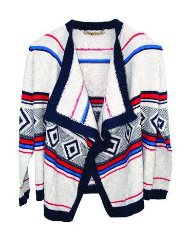 NON CLOSURE CARDI TWEEN SWEATER