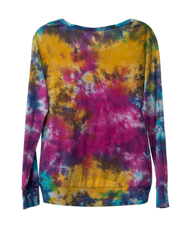 SPLATTER TWEEN SCOOP NECK LONG SLEEVE T-SHIRT