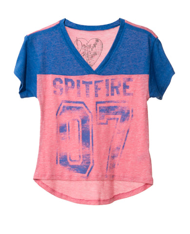 SPITFIRE TWEEN V NECK SHORT SLEEVE T-SHIRT