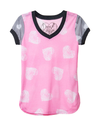 SO HEART TWEEN CREW NECK SHORT SLEEVE T SHIRT