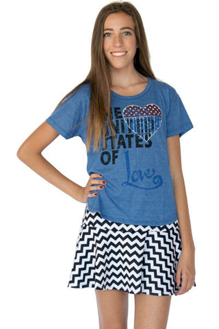 UNITED STATES OF LOVE CREW NECK SHORT SLEEVE T-SHIRT