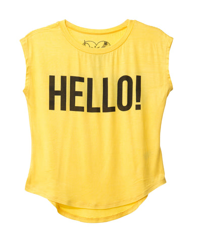 HELLO! GOODBYE! TWEEN MUSCLE TANK