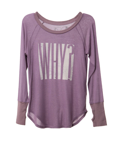 WHY? TWEEN LONG SLEEVE T-SHIRT