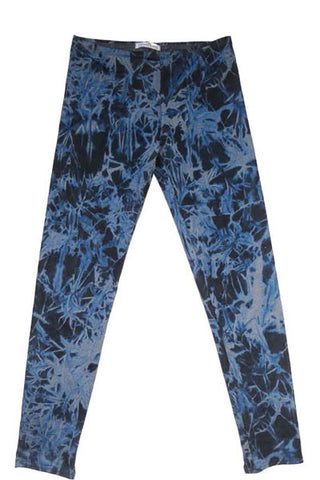 AUTUMN LEAVES LEGGING - BLUE