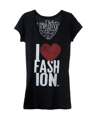 I LOVE FASHION WOMEN SHORT SLEEVE T-SHIRT