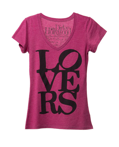 LOVERS WOMEN SHORT SLEEVE T-SHIRT