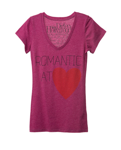 ROMANTIC HEART WOMEN SHORT SLEEVE T-SHIRT