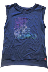 LESS EDM MORE TECHNO WOMEN TANK