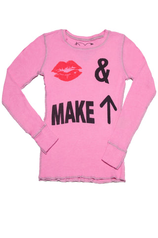 KISS MAKE UP TWEEN LONG SLEEVE THERMAL T-SHIRT