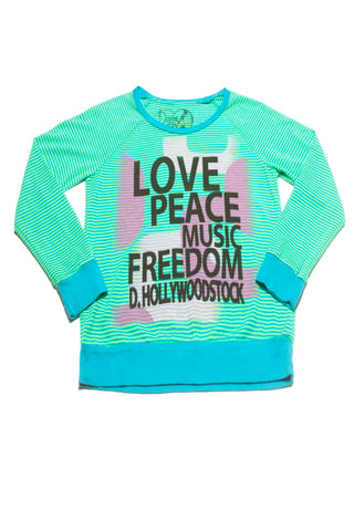 LOVE PEACE MUSIC TWEEN LONG SLEEVE T-SHIRT