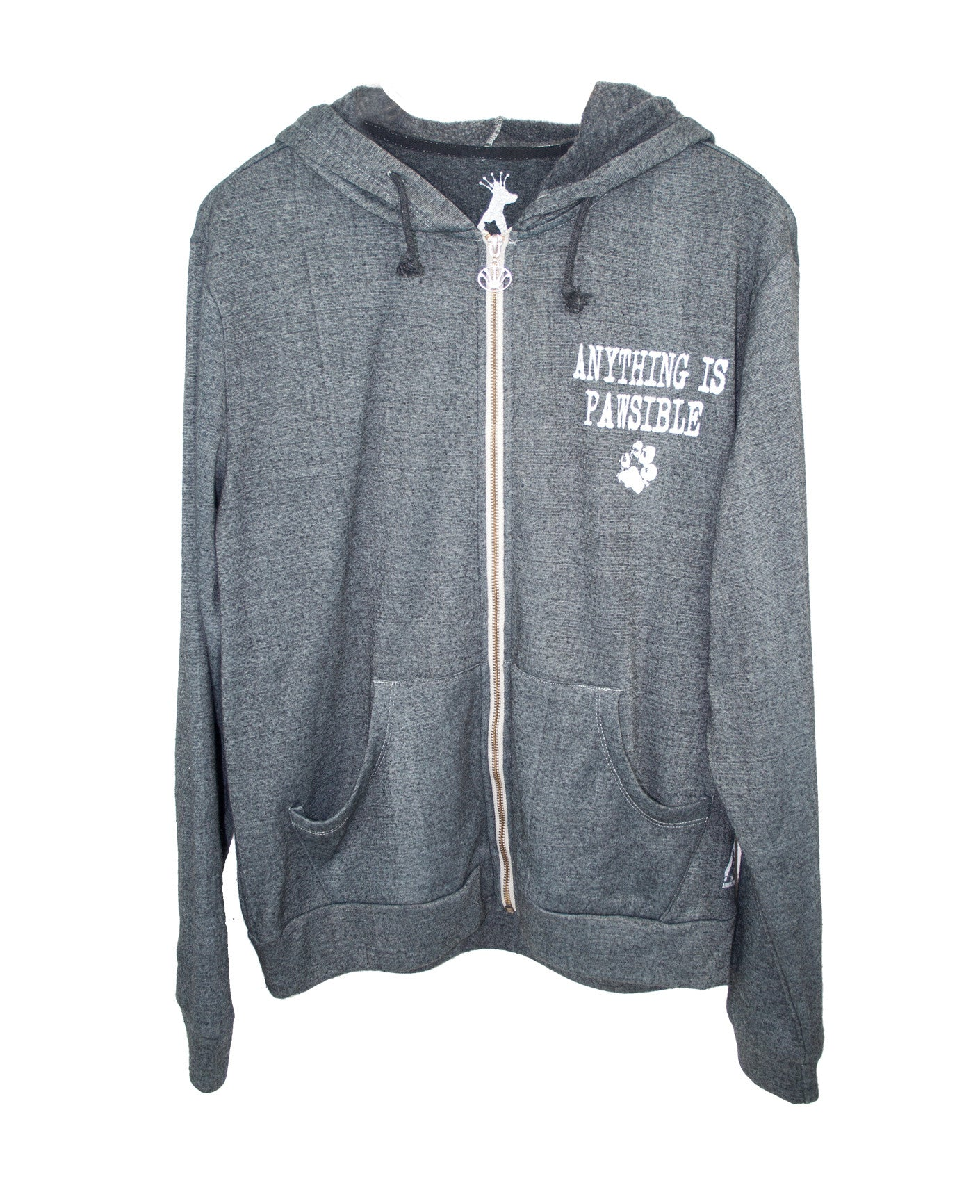 ANYTHING IS PAWSIBLE UNISEX HOODIE ZIPPER JACKET