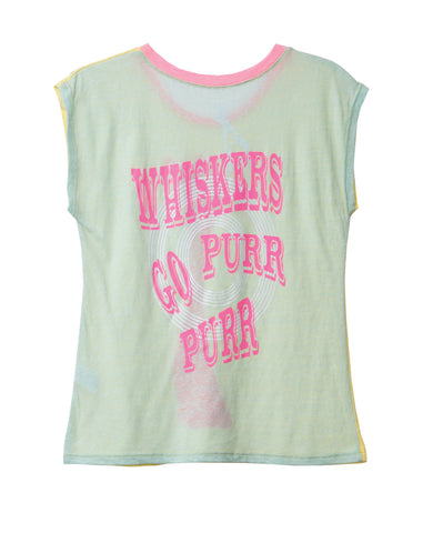 KITTY PURR PURR KIDS' ROUND NECK SHORT SLEEVE TEE