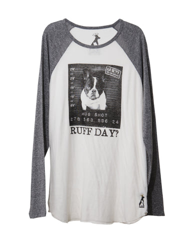 RUFF DAY WOMEN'S LONG SLEEVE BASEBALL TEE