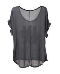 09 LIVES WOMEN'S DOLMAN ROLL SHORT SLEEVE TEE