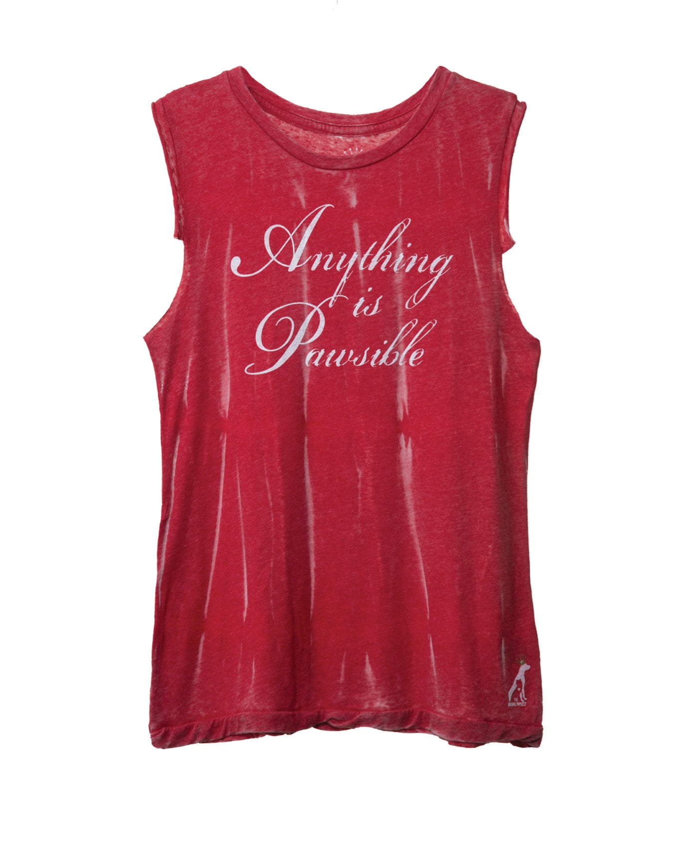 ANYTHING IS PAWSIBLE WOMEN'S MUSCLE TANK