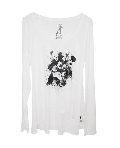 SPLATTER PAW WOMEN'S LONG SLEEVE TEE