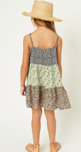Floral Block Dress- Youth