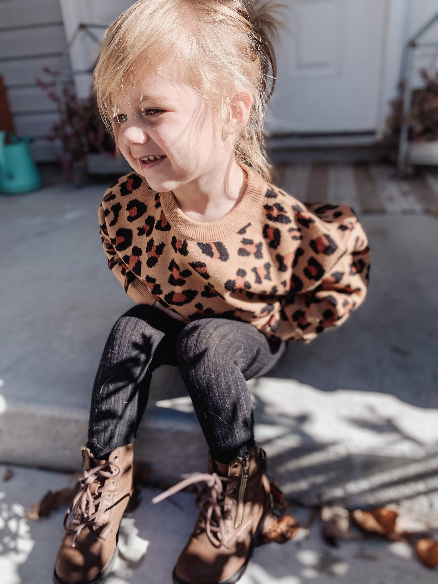 Toddler- Cheetah Sweater