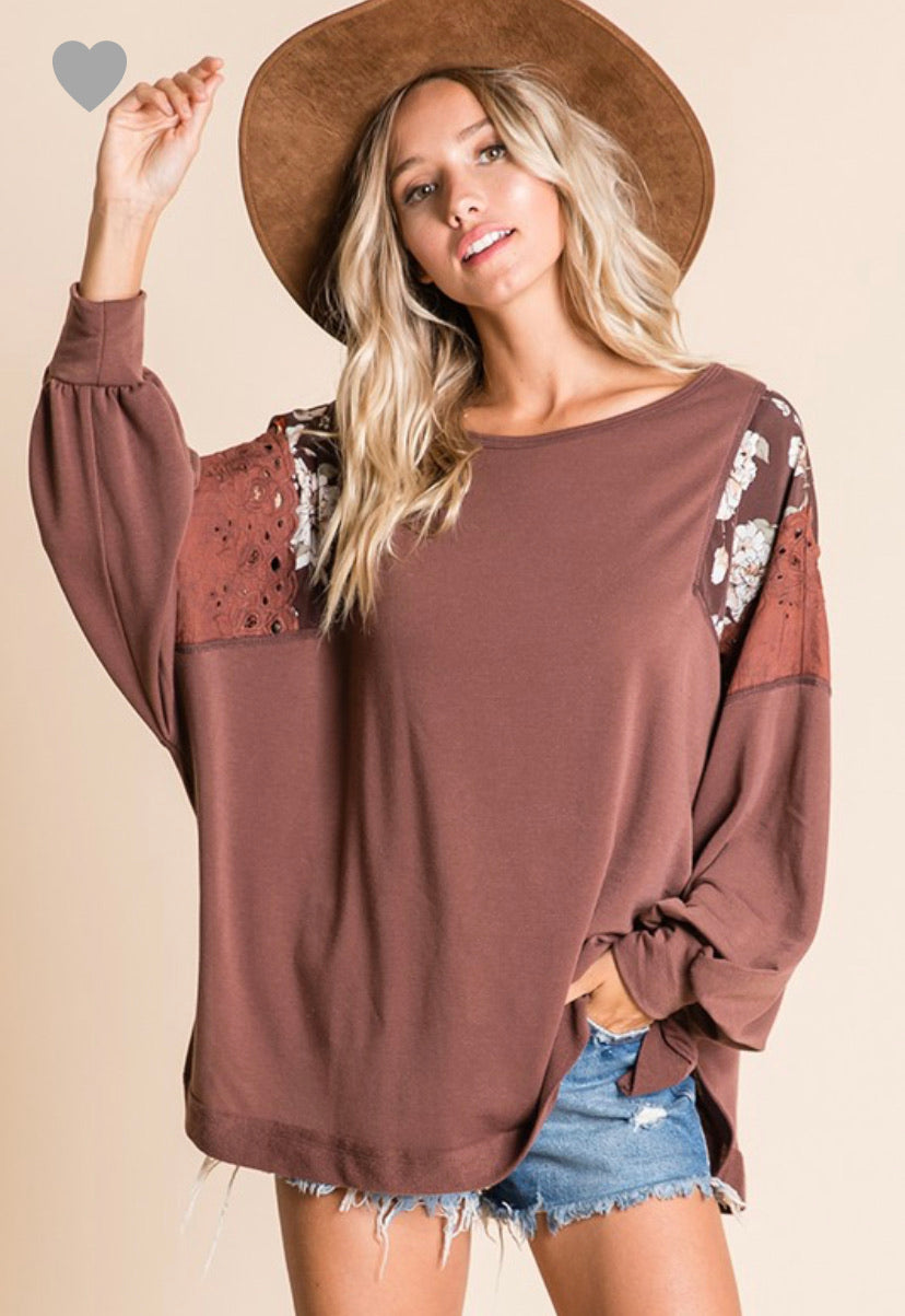 Floral Oversized Pullover