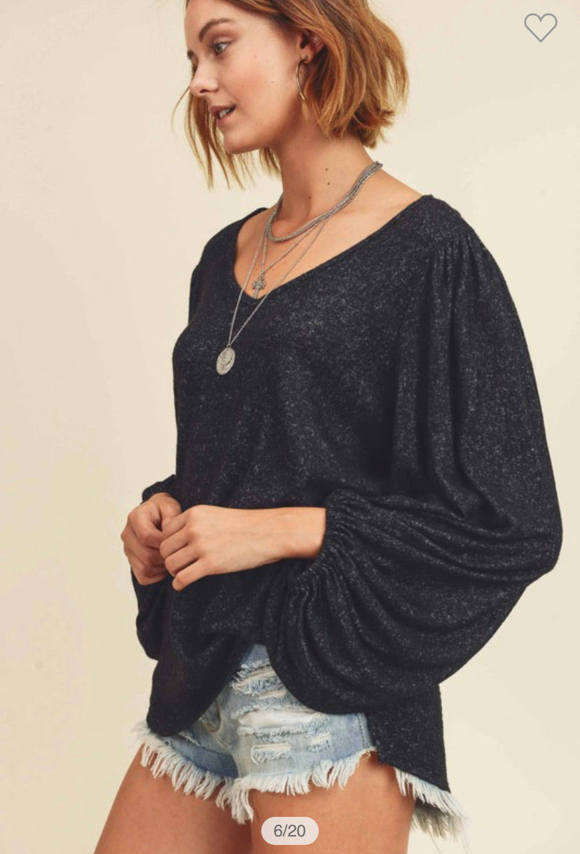 Cashmere Brushed Top