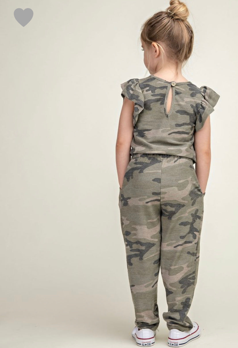 Camo Jumpsuit- Youth