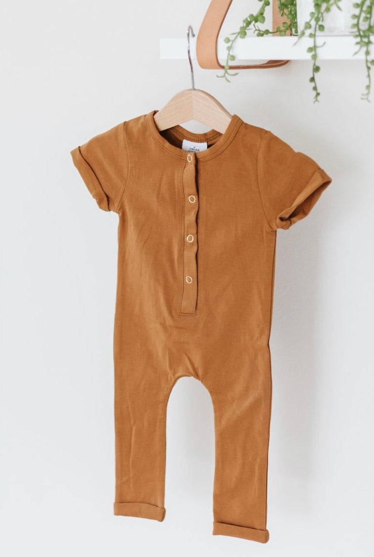 Hanley Romper- Butterscotch