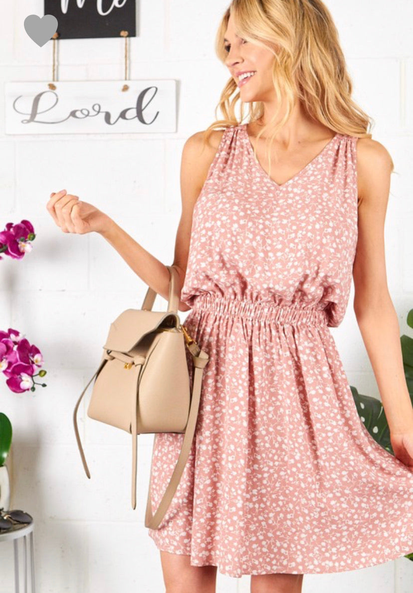 Woven Ditsy Floral Dress