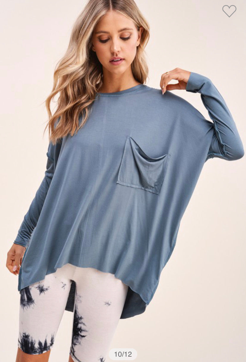 Slouchy Pocket Top