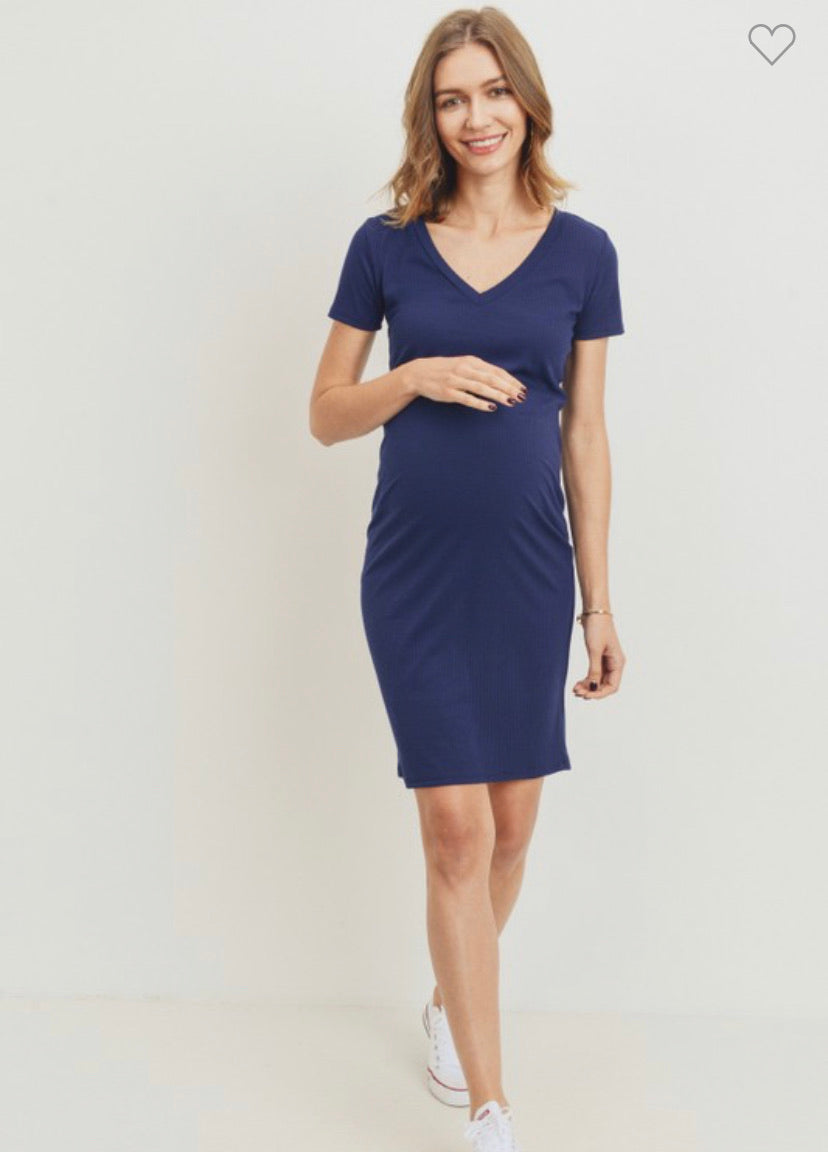 Maternity- V Neck Dress