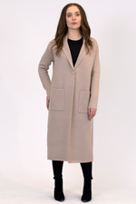 Jimmi Knit Long Coat | Taupe