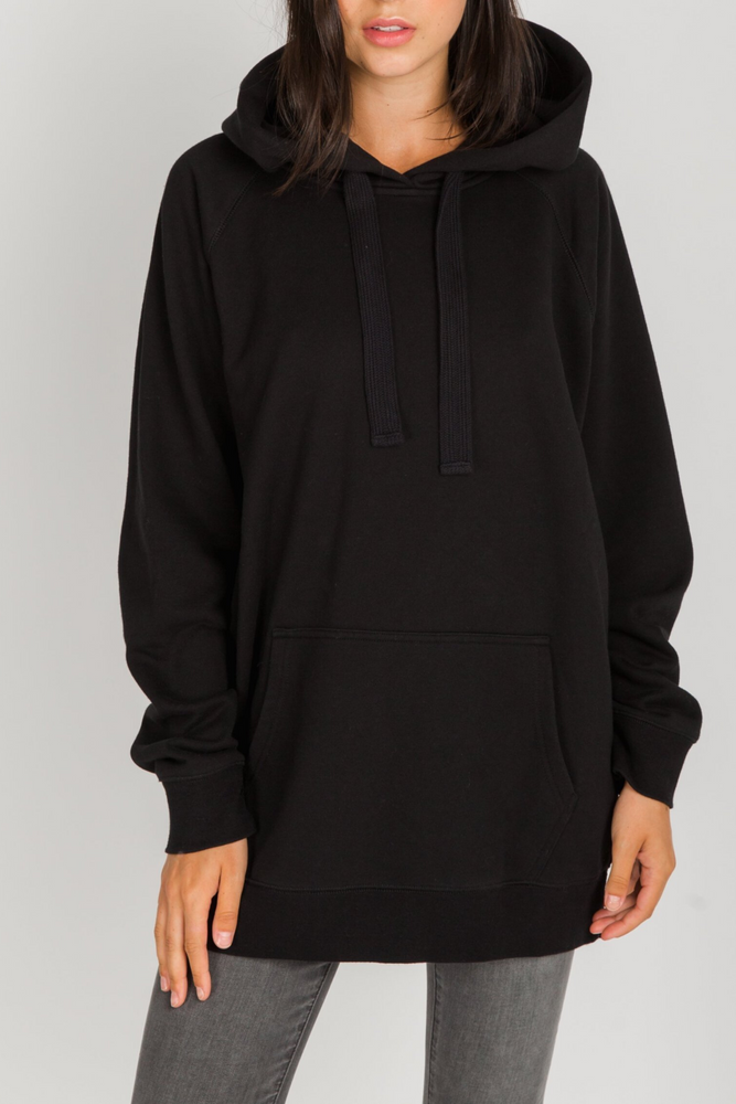 Babes Supporting Babes Big Sister Oversized Hoodie | Black