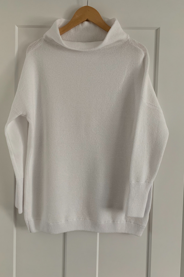 Knit Tunic Sweater | White