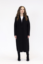 Jimmi Knit Long Coat | Black
