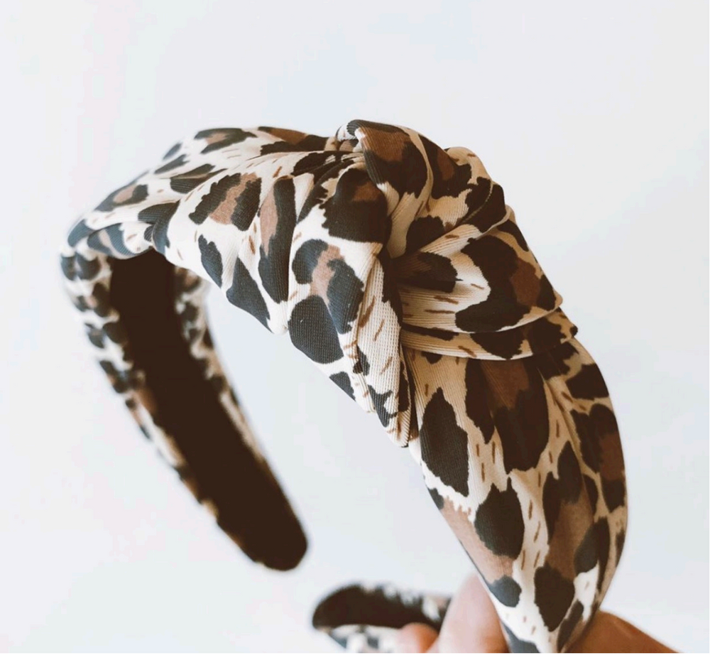 Knotted Headband | Leopard