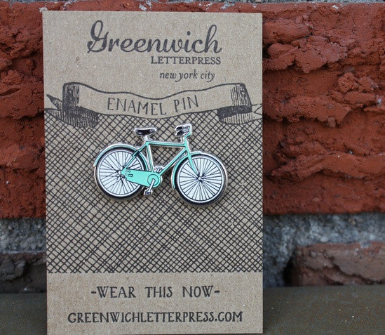 Bicycle Enamel Pin - Allthatiwant