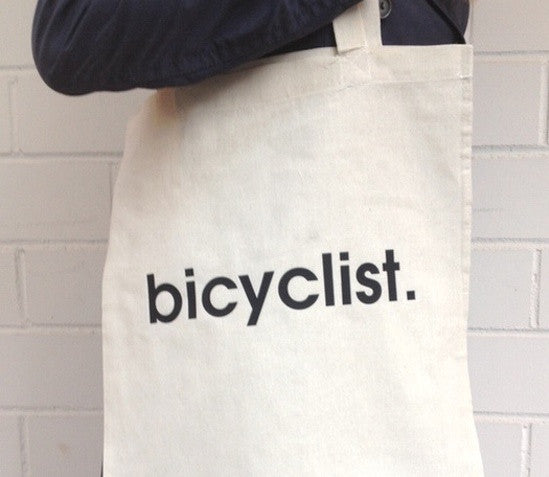 bicyclist. Tote Bag