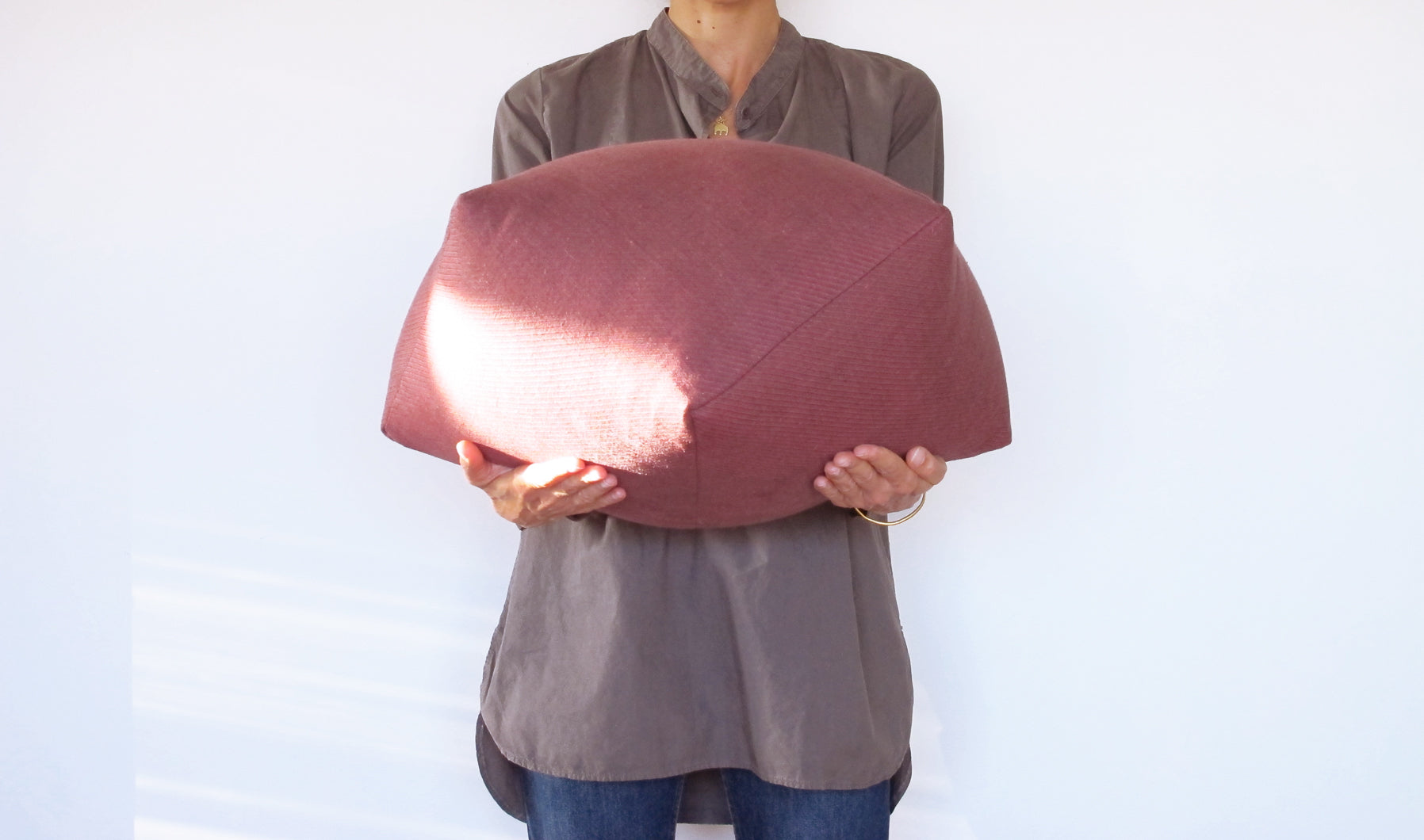 Dumpling Cushion in Size Large
