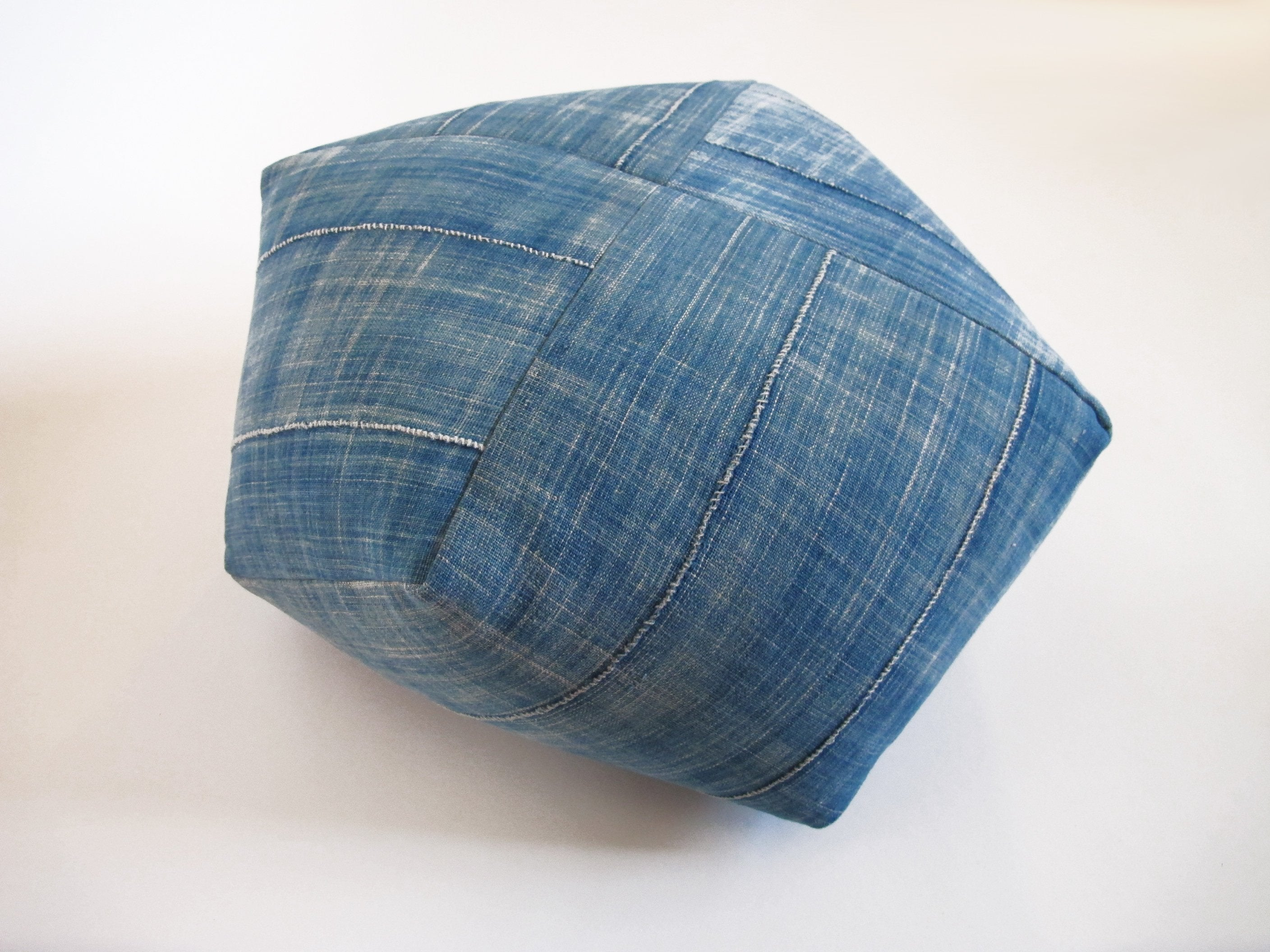 DUMPLING CUSHION, pale indigo, large