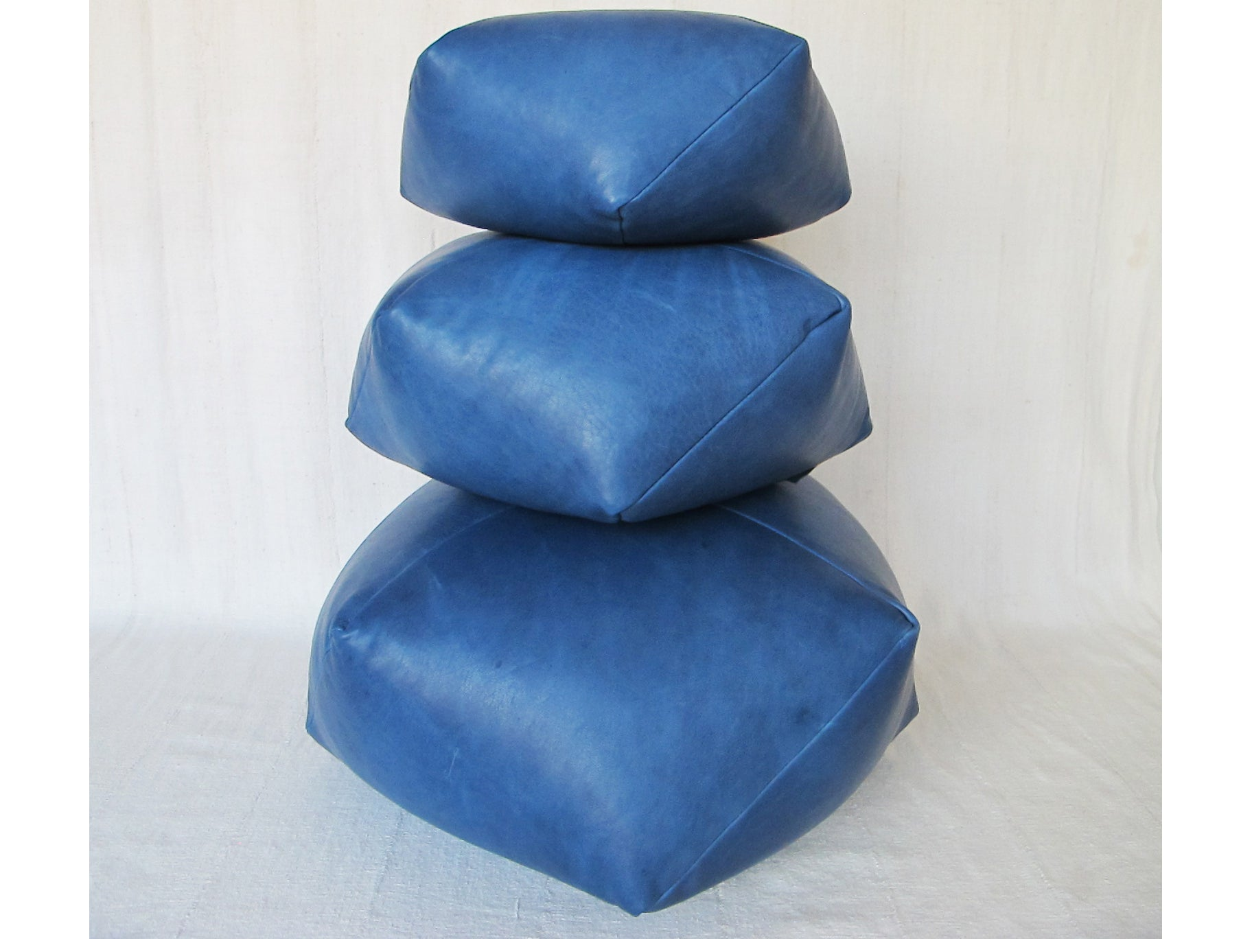 DUMPLING CUSHION, blue lamb