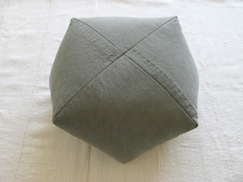DUMPLING CUSHION, shelter half canvas, sm
