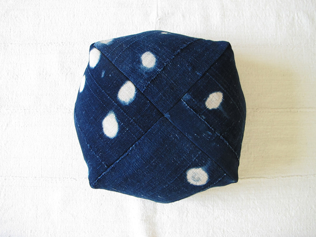 DUMPLING CUSHION, indigo moons, sm